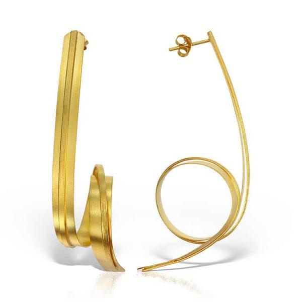 Cercei-In-The-Loop-din-Argint-Aurit-1