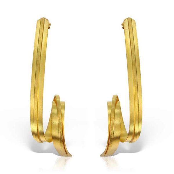 Cercei-In-The-Loop-din-Argint-Aurit-2