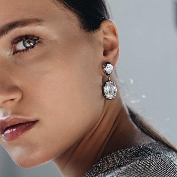 Cercei-Marquise-Clear-din-Argint