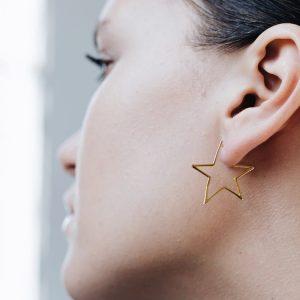 Cercei Star Struck din Argint Aurit