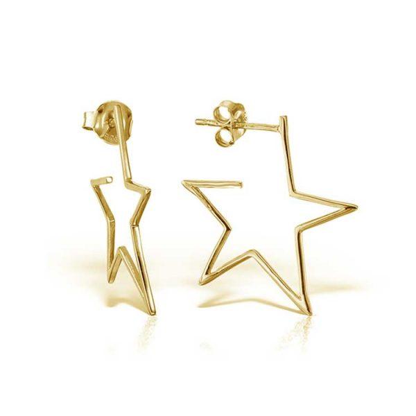 Cercei-Star-Struck-din-Argint-Aurit-1