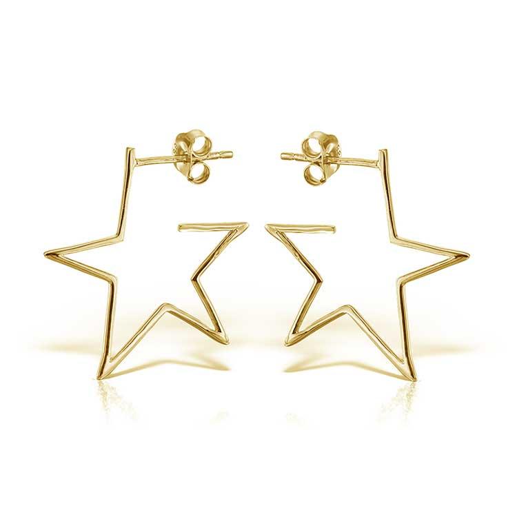 Cercei-Star-Struck-din-Argint-Aurit-2