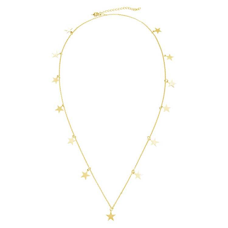 Colier-Chained-Stars-din-Argint-Aurit-1