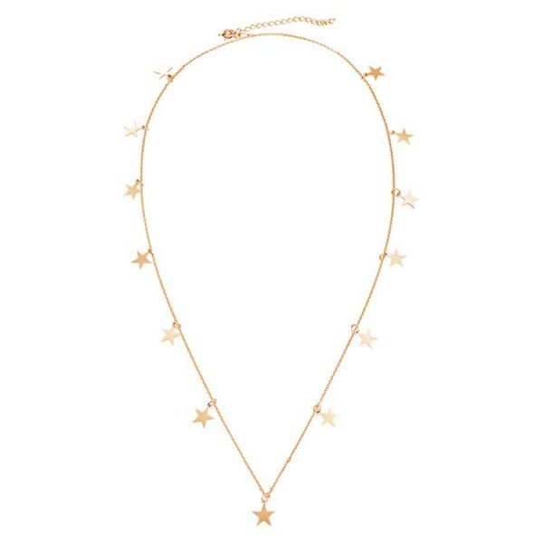 Colier-Chained-Stars-din-Argint-Aurit-Rose-1