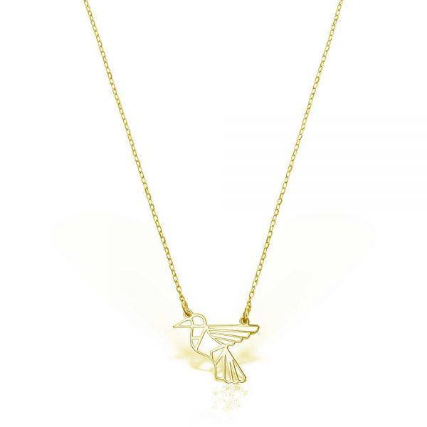 Colier-Colibri-din-Argint-Aurit-1
