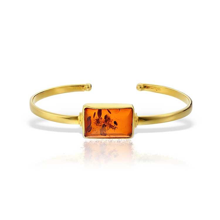 Bratara Amber Cara-Mell din Argint Aurit