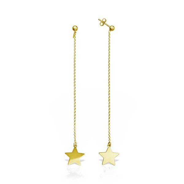 Cercei-Chained-Star-din-Argint-Aurit-1