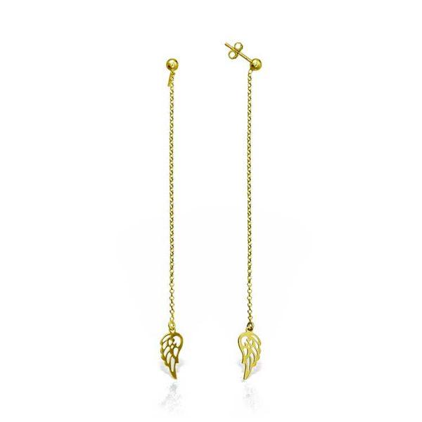 Cercei-Chained-Wing-din-Argint-Aurit-1