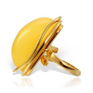 Inel Amber Moon din Argint Aurit