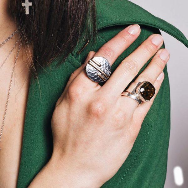 Inel-Amber-Time-Stopper-din-Argint