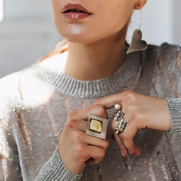 Inel Matisse din Argint Antichizat