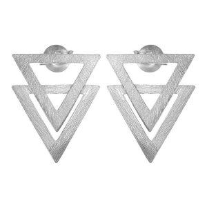 Cercei Piramid din Argint