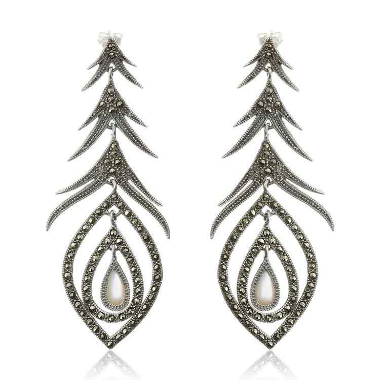 Cercei-Peacock-Perla-din-Argint-1