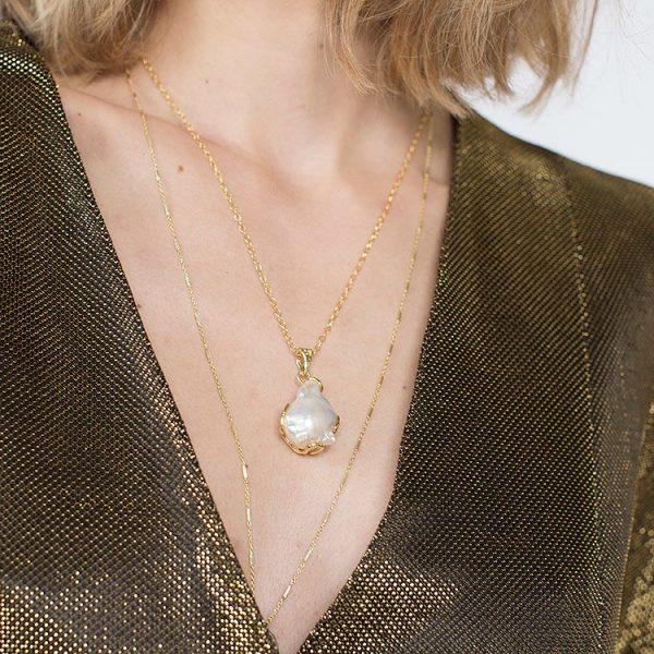 Colier Disorder More din Argint Aurit