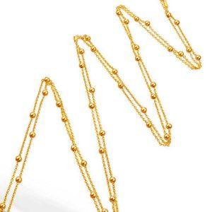 Lant XXL Connect the Dots din Argint Aurit Rosé