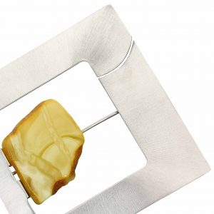 Brosa XL Amber Inside din Argint