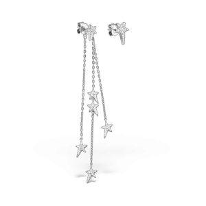 Cercei Stele pe alt Cer din Argint