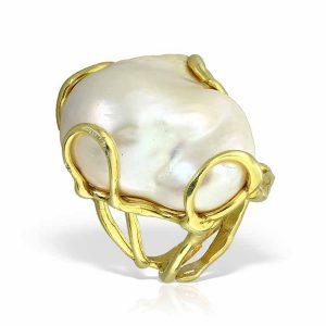 Inel Disorder More din Argint Aurit