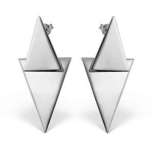 Cercei Opposites Attract din Argint