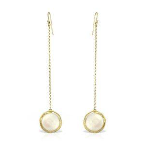 Cercei Orologio Perla din Argint Aurit