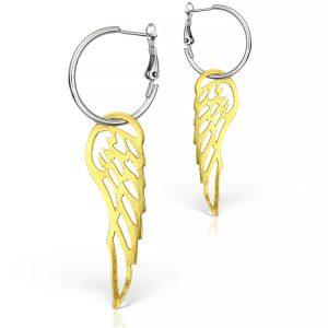 Cercei Pegasus din Argint Aurit