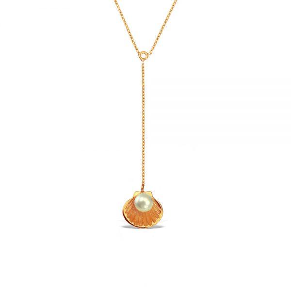 Colier-Birth-of-Venus-Pendulum-din-Argint-Aurit-Rose-1