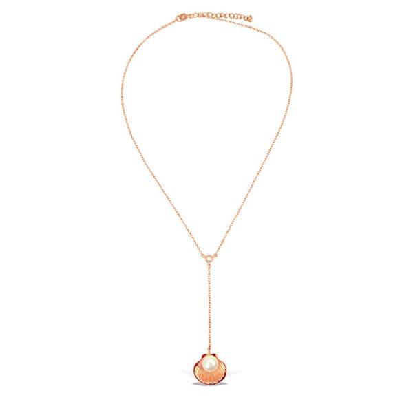 Colier-Birth-of-Venus-Pendulum-din-Argint-Aurit-Rose-2