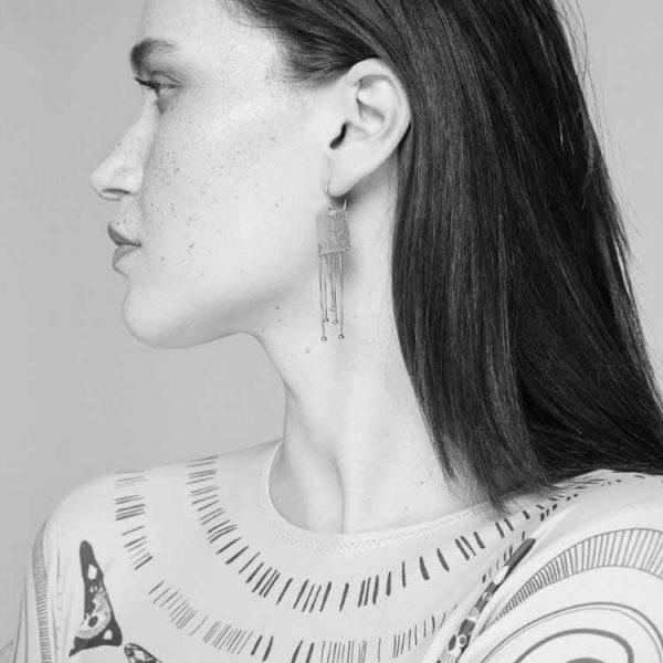 Cercei-A-Klimt-Kiss-din-Argint-2
