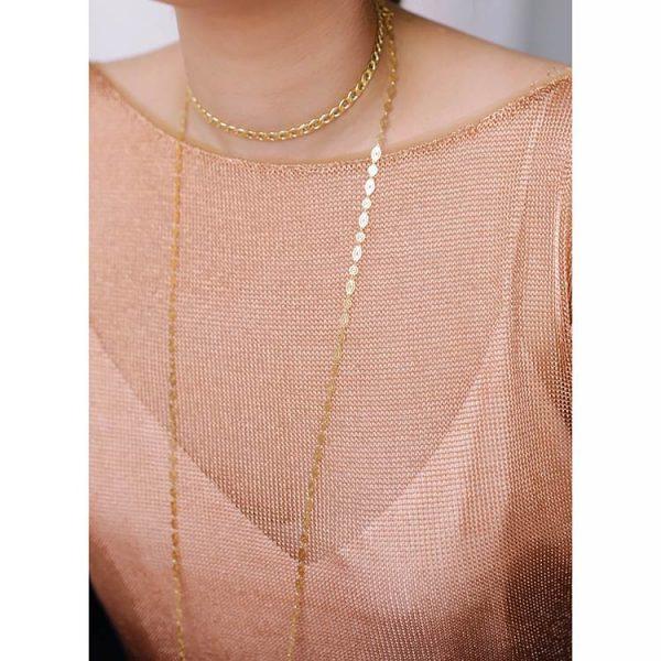Choker-Curb-Chain-din-Argint-Aurit-1