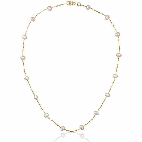 Colier-In-Between-Pearls-din-Argint-Aurit