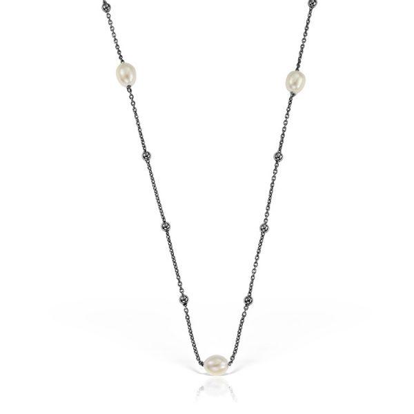 Colier-Pearl-Connection-din-Argint-Negru--01