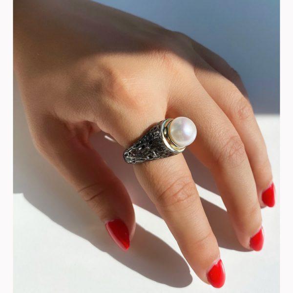 Inel-Pearl-Hookup-din-Argint-3