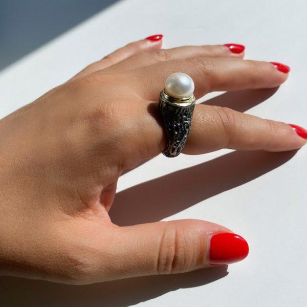Inel-Pearl-Hookup-din-Argint-4