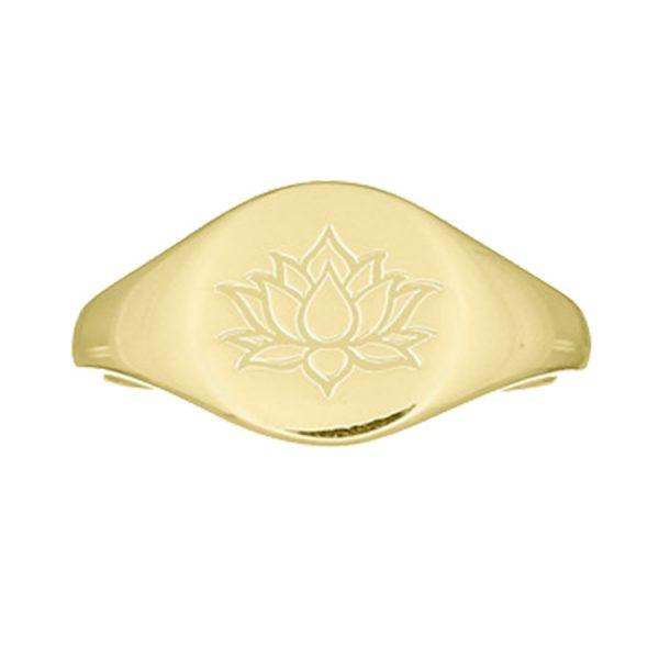Inel-Lotus-Signet-din-Argint-Aurit-01