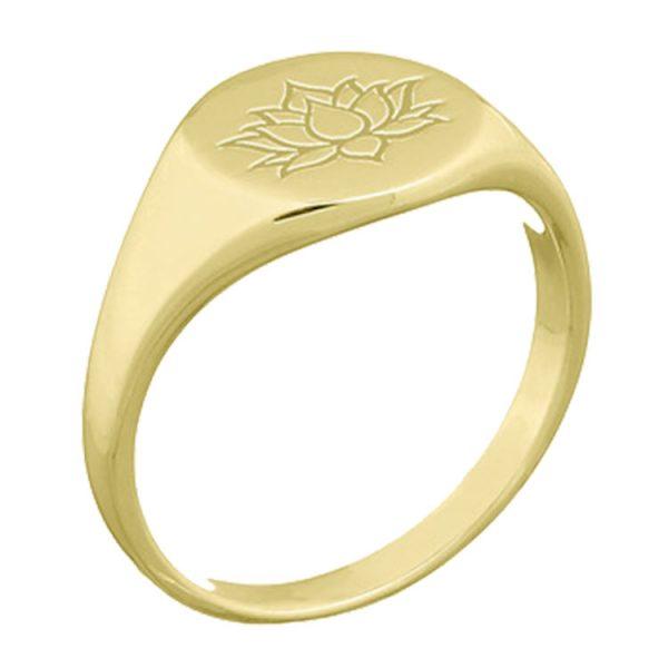 Inel-Lotus-Signet-din-Argint-Aurit-02