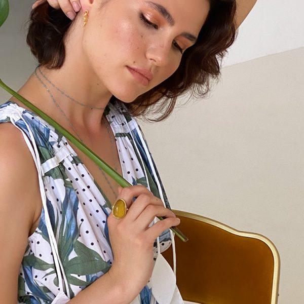 Inel-Amber-La-Belle-Epoque-#31-din-Argint-Aurit